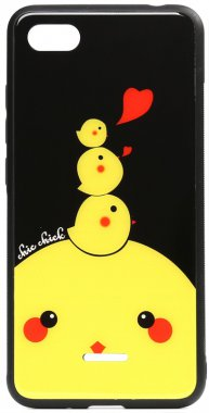6a cartoon case chehol chick chicken glass nakladka print redmi toto xiaomi