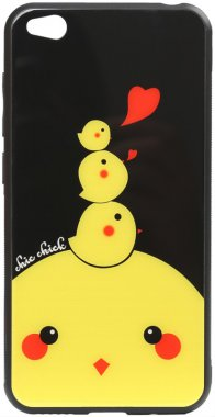 cartoon case chehol chick chicken glass go nakladka print redmi toto xiaomi