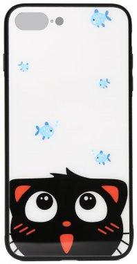 7catand apple cartoon case chehol fish glass iphone nakladka plus plus8 print toto