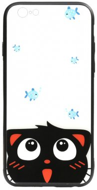 66scatand apple cartoon case chehol fish glass iphone nakladka print toto
