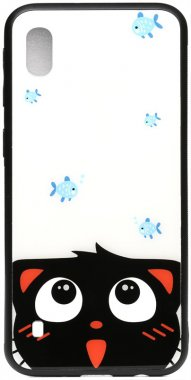 a10catand cartoon case chehol fish galaxy glass nakladka print samsung toto