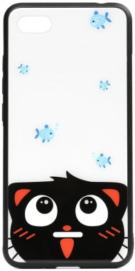 6acatand cartoon case chehol fish glass nakladka print redmi toto xiaomi