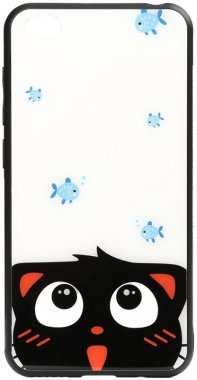 cartoon case chehol fish glass gocatand nakladka print redmi toto xiaomi
