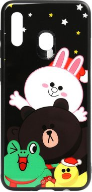 a20a30 about all cartoon case chehol friends galaxy glass line nakladka print samsung toto