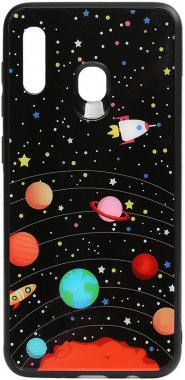 a20a30 cartoon case chehol galaxy glass nakladka planets print samsung toto