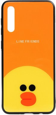 a50 cartoon case chehol friends galaxy glass line nakladka print sally samsung toto