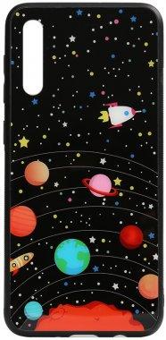 a70 cartoon case chehol galaxy glass nakladka planets print samsung toto