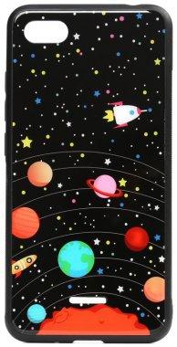 6a cartoon case chehol glass nakladka planets print redmi toto xiaomi