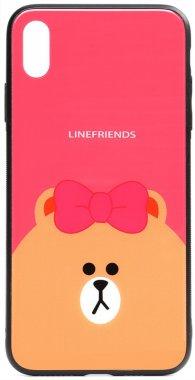 apple brown cartoon case chehol friends glass iphone line nakladka print toto xxs