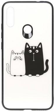 7 cartoon case cats chehol glass nakladka note print redmi toto whiteblack xiaomi