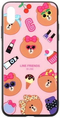 apple cartoon case chehol friends glass iphone linc line nakladka print toto xxs