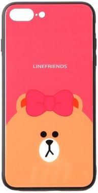 7 apple brown cartoon case chehol friends glass iphone line nakladka plus plus8 print toto