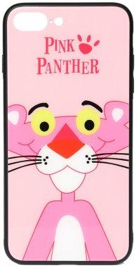7 apple cartoon case chehol glass iphone nakladka panther pink plus plus8 print toto