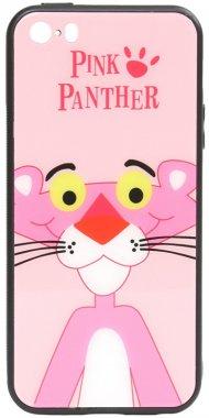 apple cartoon case chehol glass iphone nakladka panther pink print se5s5 toto
