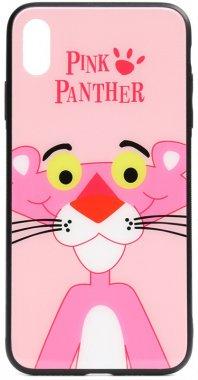 apple cartoon case chehol glass iphone nakladka panther pink print toto xsmax