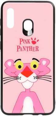 a20a30 cartoon case chehol galaxy glass nakladka panther pink print samsung toto