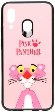 a40 cartoon case chehol galaxy glass nakladka panther pink print samsung toto