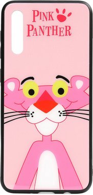 a50 cartoon case chehol galaxy glass nakladka panther pink print samsung toto