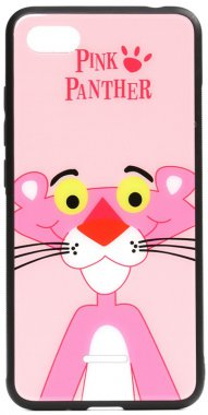 6a cartoon case chehol glass nakladka panther pink print redmi toto xiaomi