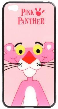 cartoon case chehol glass go nakladka panther pink print redmi toto xiaomi