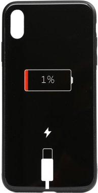 apple battery cartoon case charge chehol glass iphone nakladka print toto xsmax