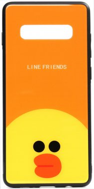 cartoon case chehol friends galaxy glass line nakladka print s10 sally samsung toto