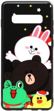 about all cartoon case chehol friends galaxy glass line nakladka print s10plus samsung toto