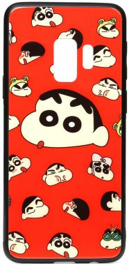 cartoon case chehol galaxy glass monkey nakladka print s9a samsung toto