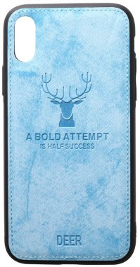 apple blue case chehol deer effect iphone leather nakladka shell toto with xxs