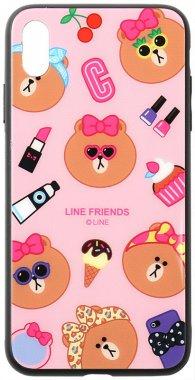 apple cartoon case chehol friends glass iphone linc line nakladka print toto xsmax