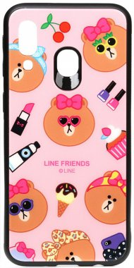 a40 cartoon case chehol friends galaxy glass linc line nakladka print samsung toto
