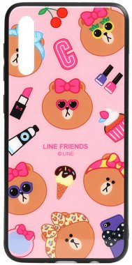 a70 cartoon case chehol friends galaxy glass linc line nakladka print samsung toto