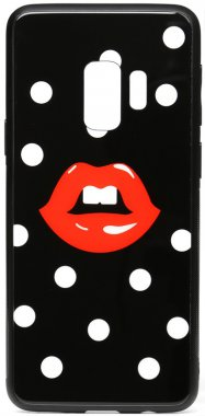 cartoon case chehol galaxy glass lips nakladka print s9red samsung toto