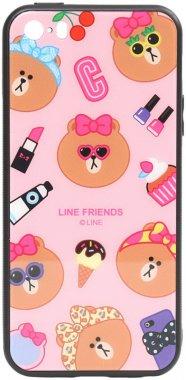 apple cartoon case chehol friends glass iphone linc line nakladka print se5s5 toto