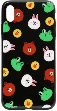 apple black cartoon case chehol friends glass iphone line nakladka print toto xxs