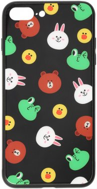 7 apple black cartoon case chehol friends glass iphone line nakladka plus plus8 print toto