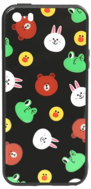 apple black cartoon case chehol friends glass iphone line nakladka print se5s5 toto