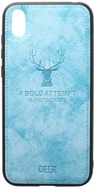 2019 blue case chehol deer effect huawei leather nakladka shell toto with y5