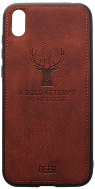 2019 brown case chehol deer effect huawei leather nakladka shell toto with y5