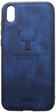 2019 blue case chehol dark deer effect huawei leather nakladka shell toto with y5
