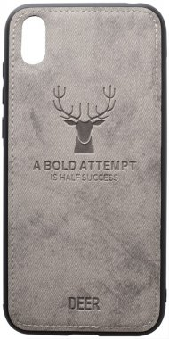 2019 case chehol deer effect grey huawei leather nakladka shell toto with y5
