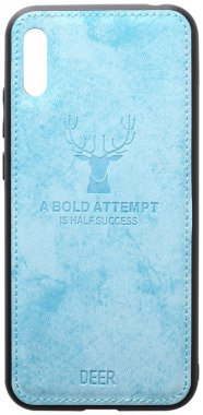 2019 blue case chehol deer effect huawei leather nakladka shell toto with y6