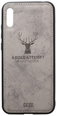 2019 case chehol deer effect grey huawei leather nakladka shell toto with y6