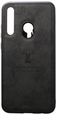 2019 black case chehol deer effect huawei leather nakladka p shell smartplus toto with