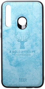 2019 blue case chehol deer effect huawei leather nakladka p shell smartplus toto with