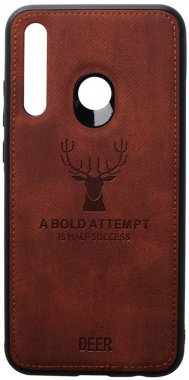 2019 brown case chehol deer effect huawei leather nakladka p shell smartplus toto with