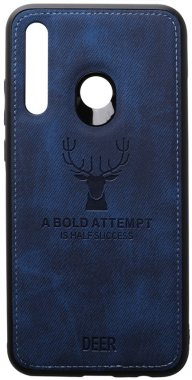 2019 blue case chehol dark deer effect huawei leather nakladka p shell smartplus toto with