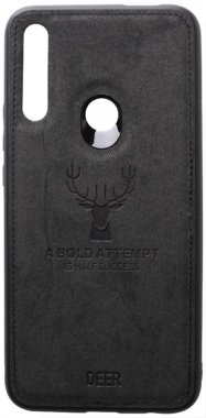 black case chehol deer effect huawei leather nakladka pz shell smart toto with