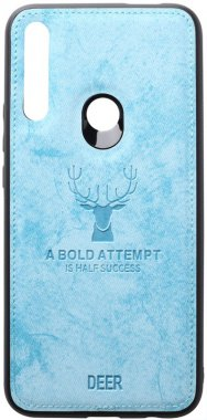 blue case chehol deer effect huawei leather nakladka pz shell smart toto with