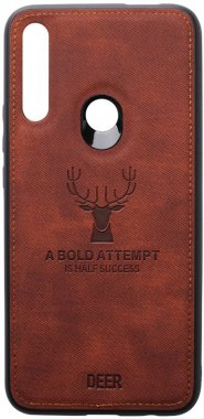 brown case chehol deer effect huawei leather nakladka pz shell smart toto with